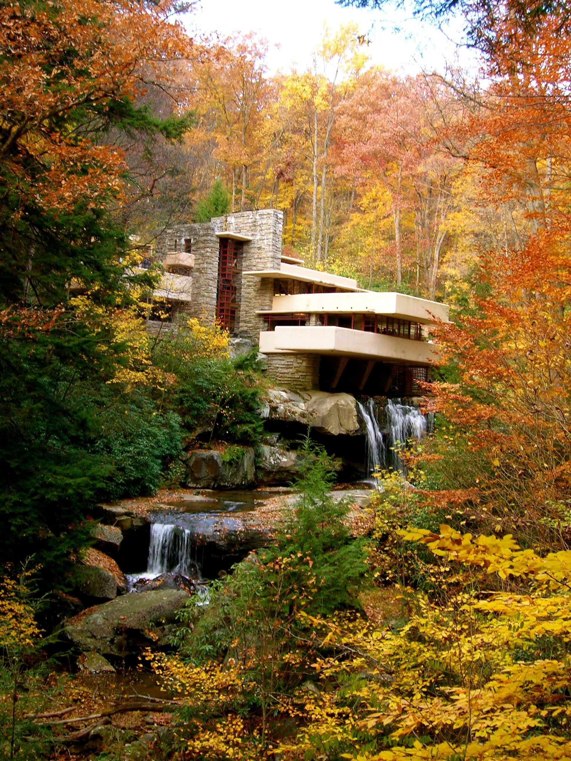 frifotos fallingwater in fall amanda elsewhere. Black Bedroom Furniture Sets. Home Design Ideas