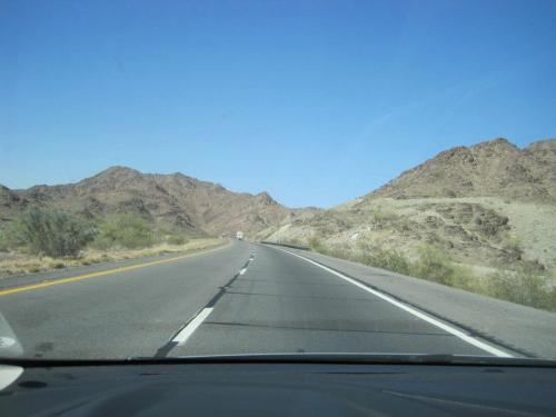 I then drove across many miles of desert to reach Arizona