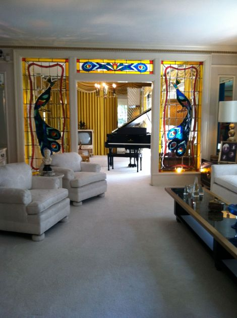 Elvis Presley's living room at Graceland