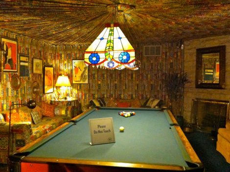 Elvis Presley's pool table at Graceland
