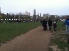 In Mauerpark, we crossed from East Side to West Side effortlessly.